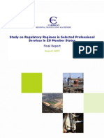 Study on Regulatory Regimes in Selected Professional Services in EU Member States