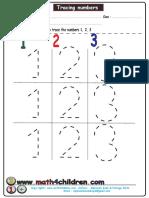 How Write Numbers 1-3