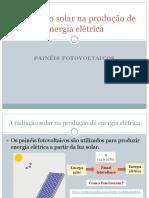 3º a Radiacao Solar Na Producao de Energia Eletrica