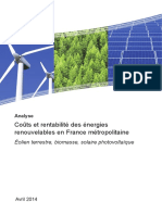 Energie Renouvelable etude socio economique