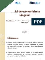 Alice Dragoescu Tehnici de Economisire a Sangelui