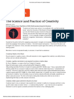 """The Science (and Practice) of Creativity"" by Diane Cadiergue"