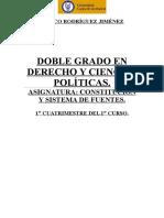 Teoría Constitución y Sistema de Fuentes.