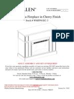 AI WMFP41EC-3 41 Inch Media Fireplace in Cherry Finish_WMT COM_NEF_rev a 20150518_EN