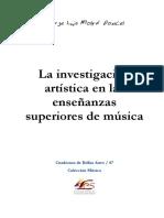 La investigación  artística en las  enseñanzas  superiores de música