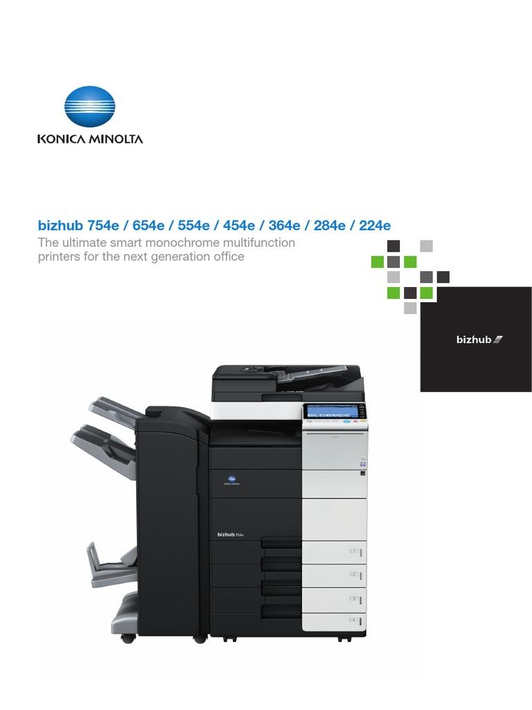 bizhub brochures-754e--554e-554e-454e-364e-284e-224e | Image Scanner | Fax