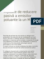 Mijloace de Reducere Pasiva a Emisiilor Poluante La M.a.I.