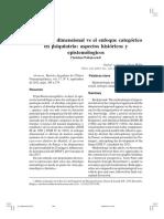 El Enfoque Dimensional vs El Enfoque Categórico en Psiquiatría- Aspectos Históricos y Epistemólogicos Christian Widakowich 1