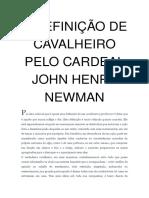 A Definição de Cavalheiro Pelo Cardeal John Henry Newman