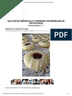 Galletas de Mantequilla y Almendra Con Mermelada - Pizca de Sabor