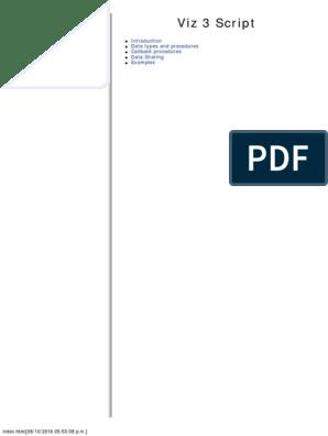Viz Artist 3 Script   Boolean Data Type   Control Flow