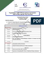 Draft Agenda - Investment Workshop (June 15)