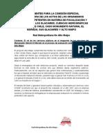 Antecedentes Para Comision Investigadora Glaciares Alto Maipo