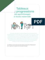 Tableaux Progressions Maternelles