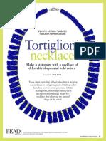 Bead Button Tortiglioni Necklace