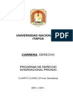 Derecho Internacional Privado (4º Curso)