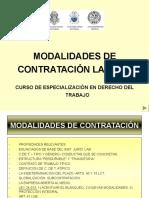 Modalidades de Contratación Laboral