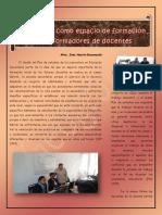 Articulo La Asesoria Como Espacio de Formacion