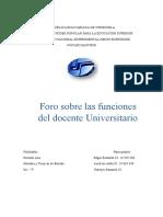 El Profesor Universitario y Sus Funciones
