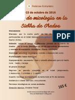 Micología en la Sierra de Gredos- 21/23 octubre 2016