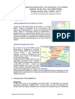 Ficha Técnica - Mapa Digital Centros Poblados Del Peru 2007