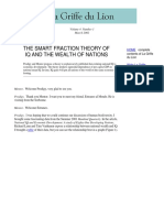 The Smart Fraction Theory of IQ and the Wealth of Nations by La Griffe Du Lion