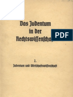Das Judentum in Der Rechtswissenschaft - 2. - Judentum Und Wirtschaftswissenschaft (1936, 52 S., Scan, Fraktur)
