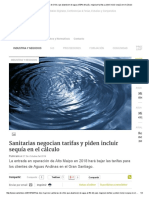 Las dos mayores sanitarias de Chile, que abastecen de agua al 50% del país, negocian tarifas y piden incluir sequía en el cálculo.pdf