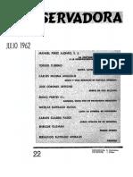 Revista Conservadora No. 22 Jul. 1962