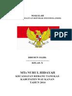 Makalah Negara Kesatuan Republik Indonesia