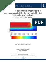 Estimation of Settlements Plaxis
