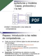 Redes de Computadoras - Unidad I - Arquitecturas y Modelos Para Redes