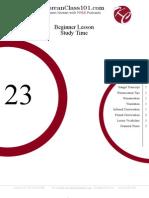 Beginner Lesson #23 - Study Time