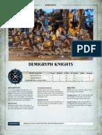Aos Warscroll Demigryph Knights En