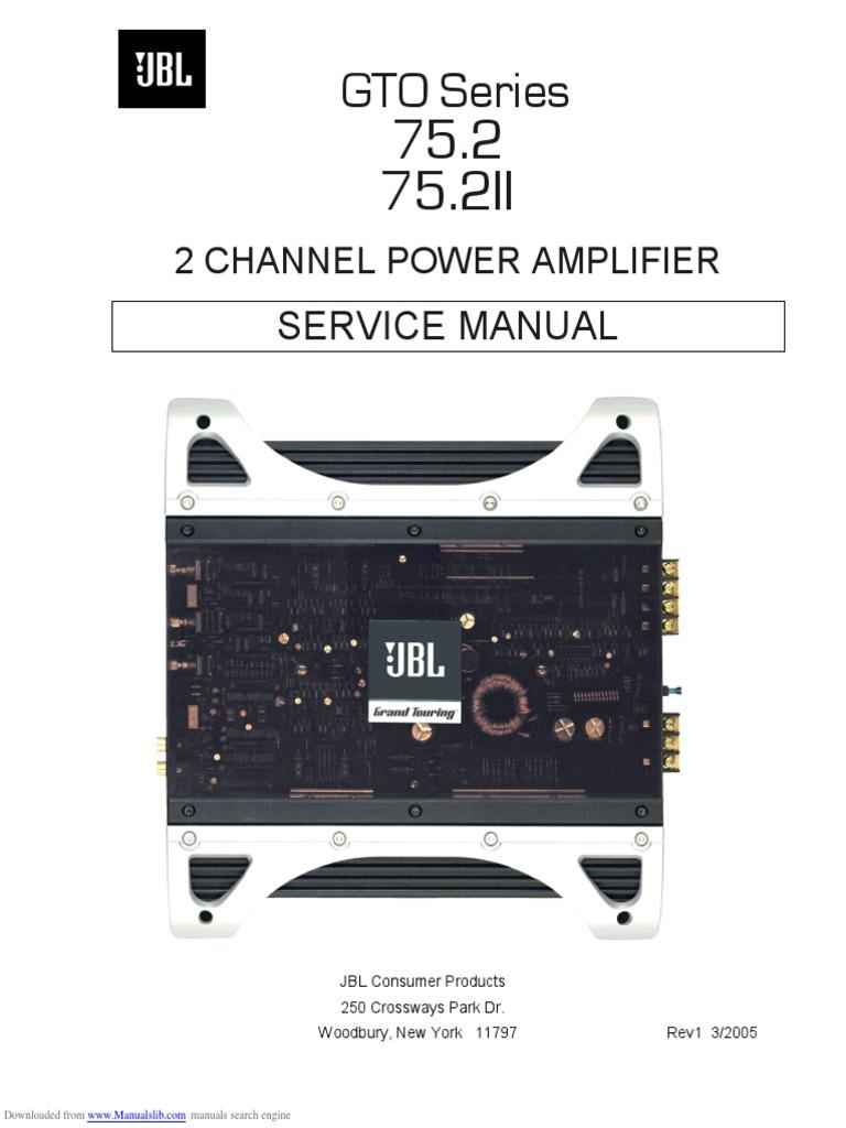 gto_752 loudspeaker amplifierJbl Car Audio Gto 752 Wiring Diagram Installation Circuit #14