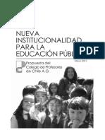 Propuesta Nueva Institucionalidad Completa