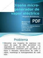 Micro-generador de Vapor Eléctrico
