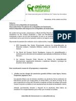 Concepto ANIMANATURALIS Para Gobierno Autoridades de Guatemala. Julio2013 - Oct2016.