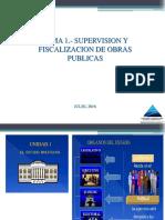 Tema 1.-Supervision y Fiscalizacion de Obras Publicas