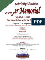 Hayer Memorial Flyer