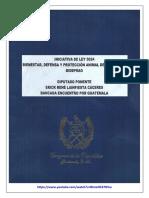 Iniciativa Ley BIDEPRAG 50-24 (Bienestar, Defensa y Protección Animal de Guatemala); 4 Feb 2016.
