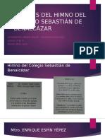Análisis Del Himno Del Colegio Sebastián de Benalcázar