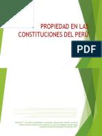 Propiedad en Las Constituciones Del Perú