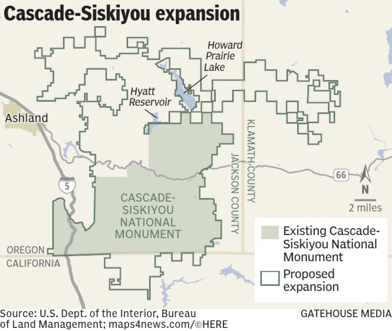 Proposed expansion of Cascade-Siskiyou National Monument on upper missouri river breaks national monument map, canyons of the ancients national monument map, pompeys pillar national monument map, newberry national volcanic monument map, cedar breaks national monument map, el malpais national monument map, lava beds national monument map, devils postpile national monument map, sonoran desert national monument map, alibates flint quarries national monument map, craters of the moon national monument map, agua fria national monument map, capulin volcano national monument map, hanford reach national monument map, grand canyon-parashant national monument map, ironwood forest national monument map, giant sequoia national monument map, buck island reef national monument map, yucca house national monument map, vermilion cliffs national monument map,