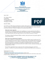 Delaware Military Academy Inspection Letter