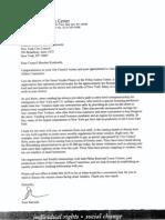 Karen Koslowitz Letter