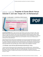 Murid Finlandia Terpintar Di Dunia Meski Hanya Sekolah 5 Jam Dan Tanpa UN, Ini Rahasianya!