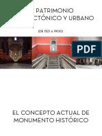 EL PATRIMONIO ARQUITECTÓNICO Y URBANO a