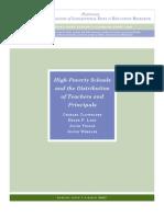 NC Ladd Et Al Study Re Teachers In_High_Poverty Schs