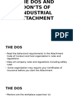 The Dos and Don'Ts of Industrial Attachment (2)